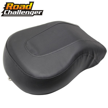 Motorcycle Black PU Leather Passenger Seat Cushion Rear Seat Pillions For Harley Softail Fat Boy FLSTF 2008-2014