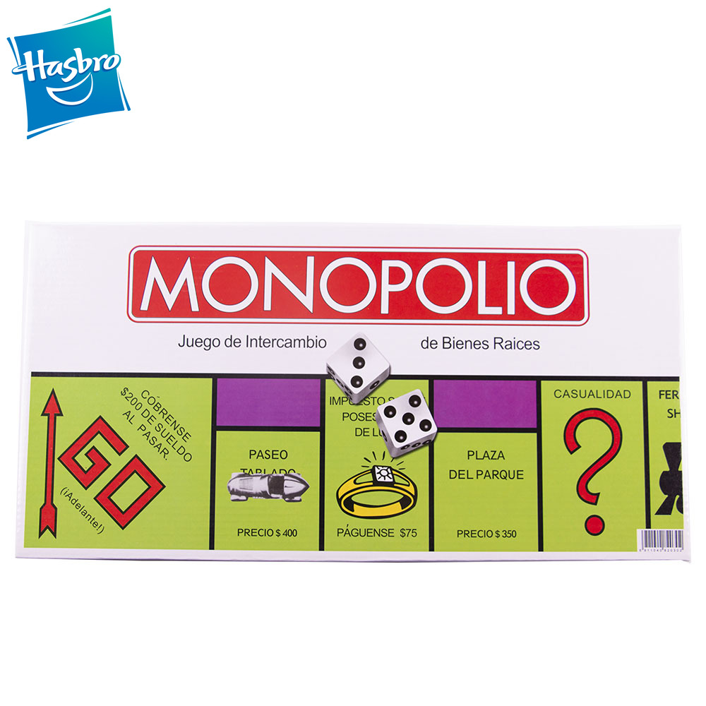 Hasbro Gaming Monopoly Classic Board Game English SPANISH  Version Monopoly Game Board Game Kids Toy Gift