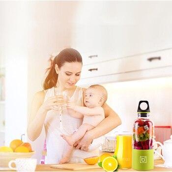 500ml Taşınabilir Meyve Sıkacağı Bardağı USB şarj Edilebilir Elektrikli Otomatik Bingo Sebze Meyve Suyu Araçları Maker Fincan Blender Mikser şişe