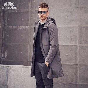 Image 2 - Enjeolon Brand Winter Thick Long Jacket Coat Men Long Coat Hoodies Men Jcaket Long Parka Jacket men warm 3XL Coat Men MF0624