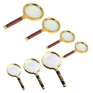 Magnifying Glass 10X Handheld 60mm/70mm/80mm/90mm Loupe Portable Magnifier for Jewelry Newspaper Reading Handheld Magnifier