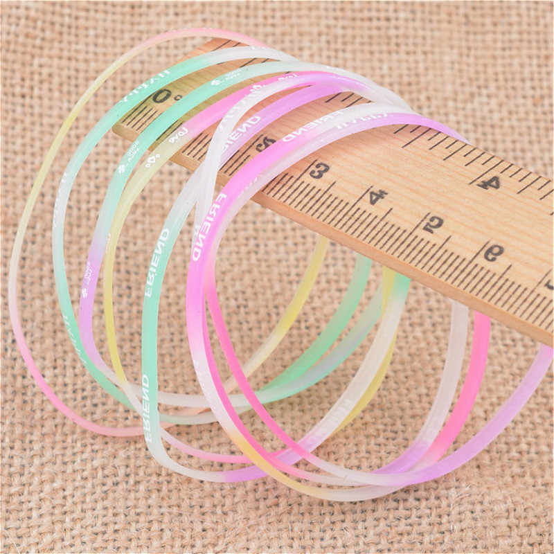 1 pçs pulseira decorativa brilho-no-escuro toys1pair moda acessórios do esporte brilho no escuro melhorar a capacidade presente crianças