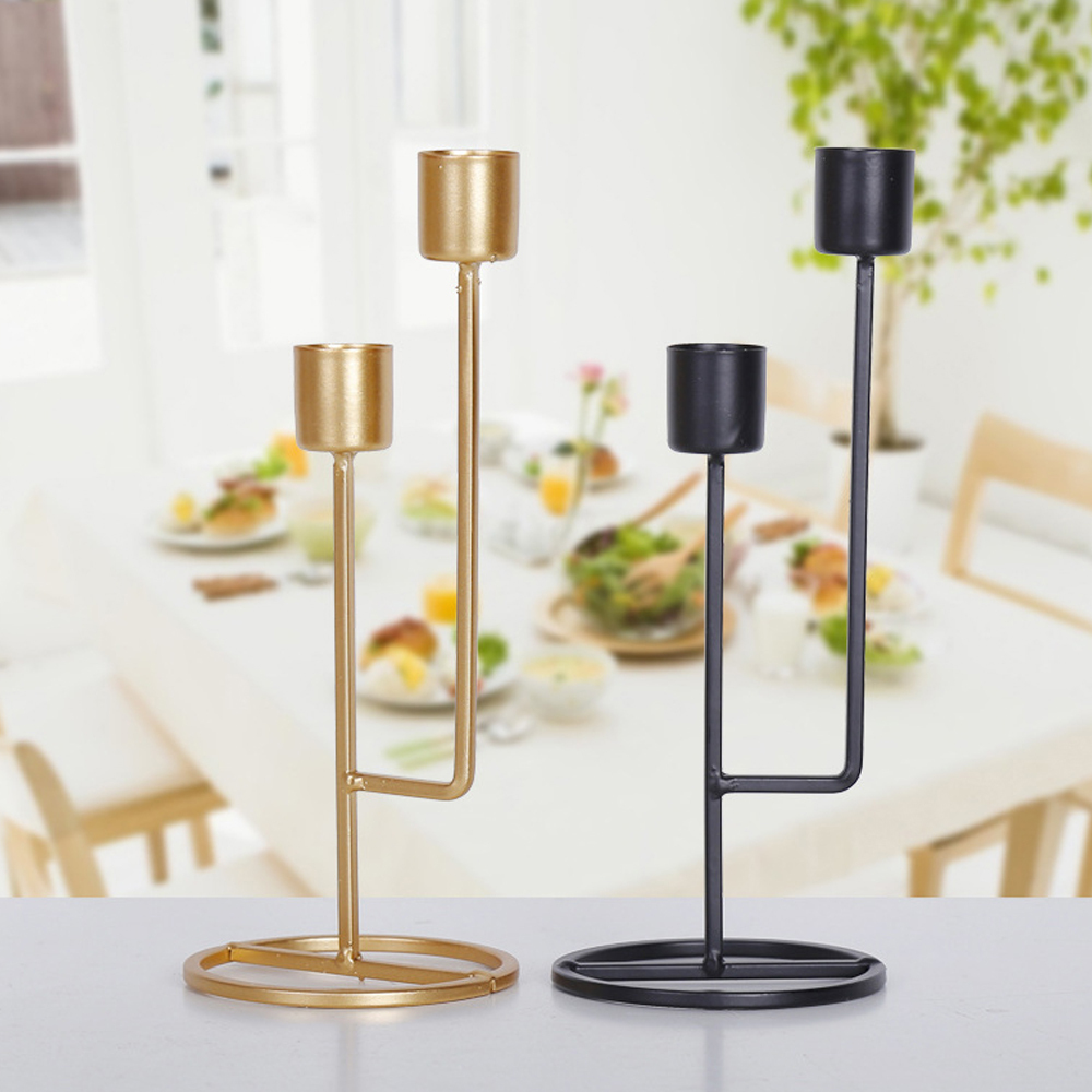 Simple Moments Modern Style Gold Metal Candle Holders Wedding Decoration Bar Party Home Decor Candlestick 2019 On Sale in Candle Holders from Home Garden