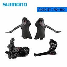 Shimano-palanca de cambio de velocidad Tourney A070, 2x7 velocidades, doble CONTROL, abrazadera, desviador delantero y trasero, para bicicleta de carretera, 3 piezas