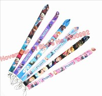 Lot 50pcs mixed cartoon princess Lanyard ID Badge Holders Mobile Neck Keychains For Party Gifts WQ 203