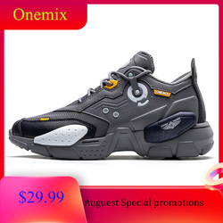 ONEMIX unisex Sneakers Leather Running Shoes Outdoor Walking Mens Shoes Sports Fashion Professional Trainers Sneaker Shoes