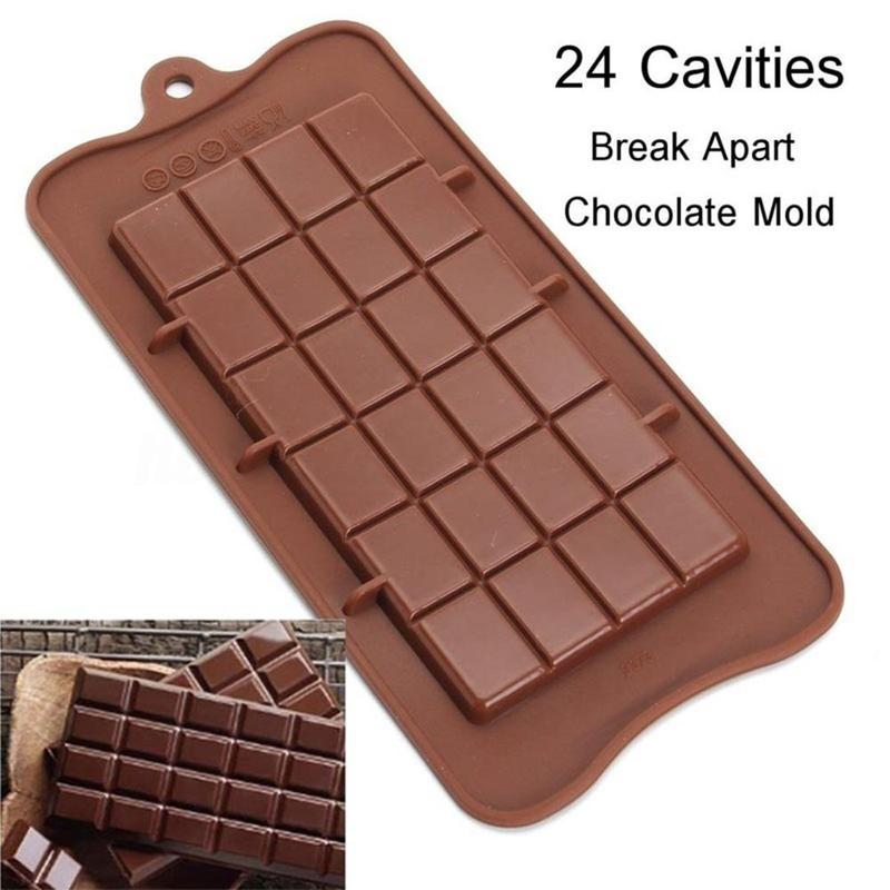 24 Cavities  Square Chocolate Mold Ice Plate Jelly Cake Baking Tools