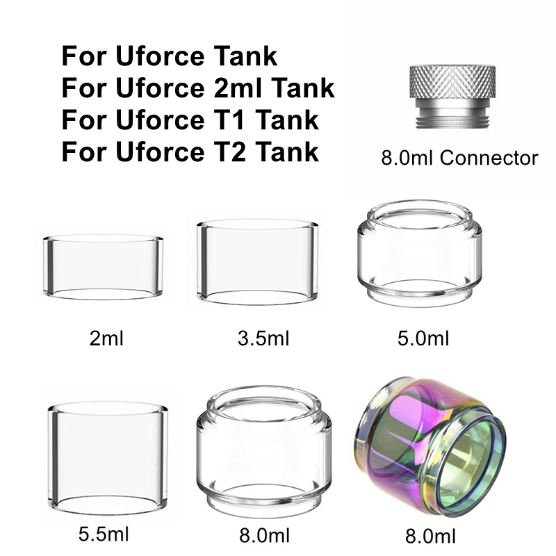 For VOOPOO Uforce T1 T2 Tank Atomizer Pyrex Glass Tube Extend 8.0ml Connector Chimney Adapter Tube Drag Mini 2 Kit