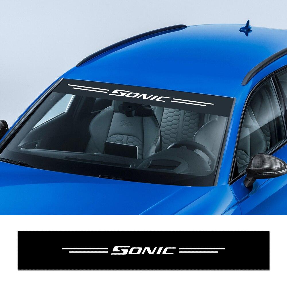Stickers de d/écoration r/éfl/échissante color/ée autocollants de voiture style autocollant avant autocollant de pare-brise