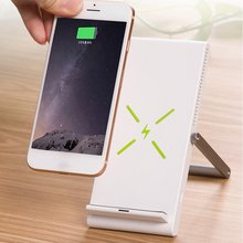 QI Certification Wireless Charger Mobile Phone Holder Wireless Charging Digital Double Coil Design Foldable Vertical Fast Charge цена и фото
