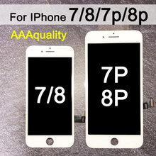 Montaje de digitalizador de pantalla LCD para iPhone 7 montaje de digitalizador con pantalla táctil LCD para iphone 7 plus, 8p