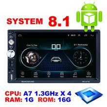 Ekran dotykowy samochodowy Android 8 1 samochodowe Mp5 Gps odtwarzacz wideo + funkcja linku telefonicznego + + Bluetooth + FM + wifi odtwarzacz multimedialny z kamery lub nie tanie tanio Ai CAR FUN Android 8 1 Car mp5 gps Player 990g Osłona przeciwsłoneczna Angielski 12 v 20 5x11 5x15cm 1080x720