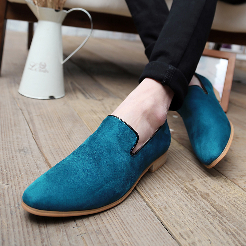 Men's Loafers Dress-Shoes Slip-On Suede Comfortable Casual Retro Y1-09 Footwear Wedding