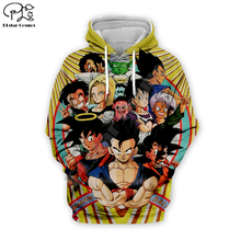 Men women Harajuku Dragon ball Z Hoodies 3D Full print cartoon autumn Sweatshirt anime unisex zipper jacket pullover tshirt
