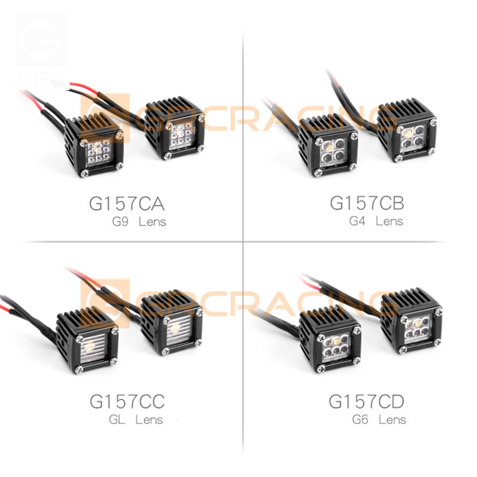 RC Car LED Light Headlights Spotlight for 1/10 RC Crawler Axial SCX10 III AXI03007 90046 Traxxas TRX4 Redcat Gen8 Tamiya