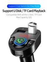 fm tf Car Charger with FM Transmitter Bluetooth 5.0 Receiver Audio MP3 Player TF Card U-disk Car Kit 3.1A Dual USB Car Phone Charger (3)