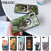 Raccoon red panda fox Silicone Case for iPhone 5 5S 6 6S Plus 7 8 11 Pro X XS Max XR