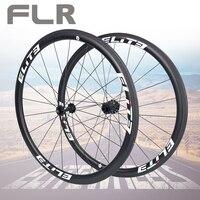 Elite FLR karbon fiber yol bisikleti tekerlek 25/27mm jant tübüler kattığı Tubeless 700c tekerlek düz çekme düşük direnç Hub