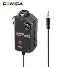 CoMica LinkFlex AD2 XLR/6.35mm 3.5mm 마이크 프리 앰프 앰프 카메라 스마트 폰용 오디오 어댑터 기타 인터페이스 유니버설