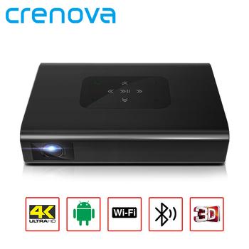 CRENOVA DLP przenośny MINI projektor X5 4K Android WIFI 3D 10500mAH bateria 300 cala 1080P rzutnik Smart TV Laser Beamer tanie i dobre opinie Auto Korekty CN (pochodzenie) Projektor cyfrowy 4 3 16 9 X1 25 400 Ansi 1280x720 dpi 6000 Lumenów 30-300 cali 5001 1-8000 1
