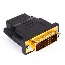 Dvi 24 + 1 converter macho banhado a ouro para hdmi fêmea 1080 p hdtv adaptador conversor