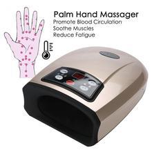 Elektryczny ręczny masażer dłoni akupresury z ciśnieniem powietrza kompres ciepła SPA palec ręczny krążenie ulga w bólu rehabilitacja