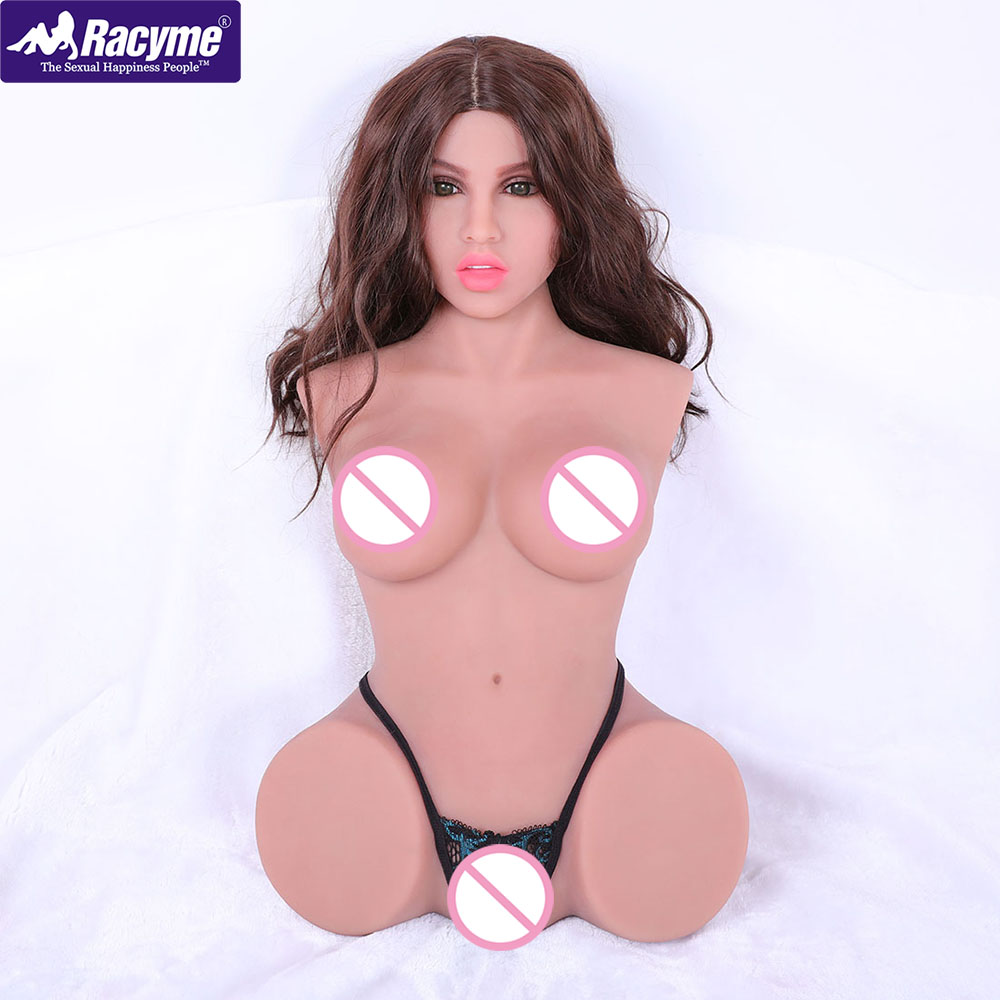 Racyme Moan <font><b>Sex</b></font> <font><b>Dolls</b></font> torso Real Silicone soft Lifelike Pussy Big Ass Love <font><b>Doll</b></font> <font><b>90cm</b></font> voice sexy toys for men Masturbator image