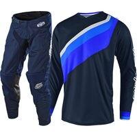 Jérsei e calças da motocicleta marinha motocross conjunto de engrenagem roupas kit moto quente bicicleta sujeira jérsei + calças terno|Jaquetas| |  -