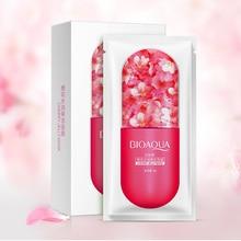 10Pcs BIOAQUA Jelly Face Mask Aloe vera Blueberry Cherry blossom Plants Moisturizing Whitening Facial Skin Care Sleeping