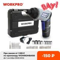 WORKPRO-Destornillador eléctrico inalámbrico de 3.6V, destornillador con batería de litio, recargable