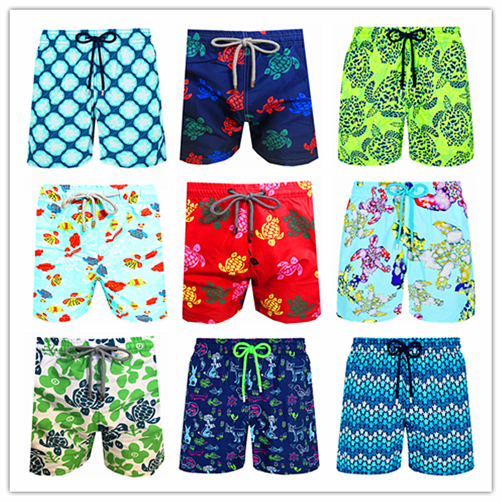 2020 Brand Brevile Pullquin Beach Board Shorts Men Turtles Swimwear Adults Boardshorts Cat Santa Claus Skateboard Man Beachwear