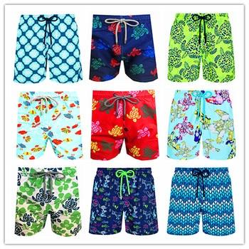 2020 Brand Brevile pullquin Beach Board Shorts Men Turtles Swimwear Adults Boardshorts Cat Santa Claus Skateboard Man Beachwear