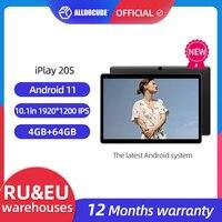 Tablet ALLDOCUBE iPlay 20S da 10.1 pollici Android 11 4G LTE octa-core 4GB/6GB RAM 64GB ROM 1920 × 1200 IPS Tablet PC Unisoc®SC9863A