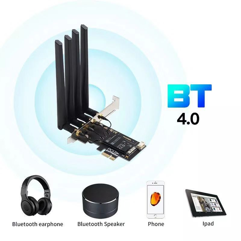 Dual band BCM94360CD Hackintosh PC 1750Mbps WiFi Bluetooth 4.0 PCI-E Adapter for MacOS Airdrop Handoff Continuity 802.11AC 5