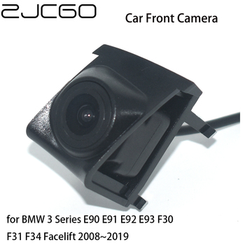 ZJCGO Car Front View Parking LOGO Camera Night Vision Positive for BMW 3 Series E90 E91 E92 E93 F30 F31 F34 Facelift 2008~2019 image