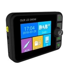 Mini dab receptor de rádio digital bluetooth mp3 player música colorida tela lcd adaptador transmissor fm para acessórios do carro