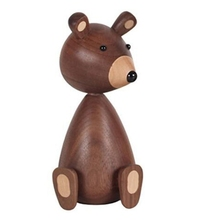 цены TOP!-Little Bear Walnut Wood Ornaments for Decor Squirrel for Furniture Walnut Wood Crafts Shipping Small Gifts Wood Bear Toy