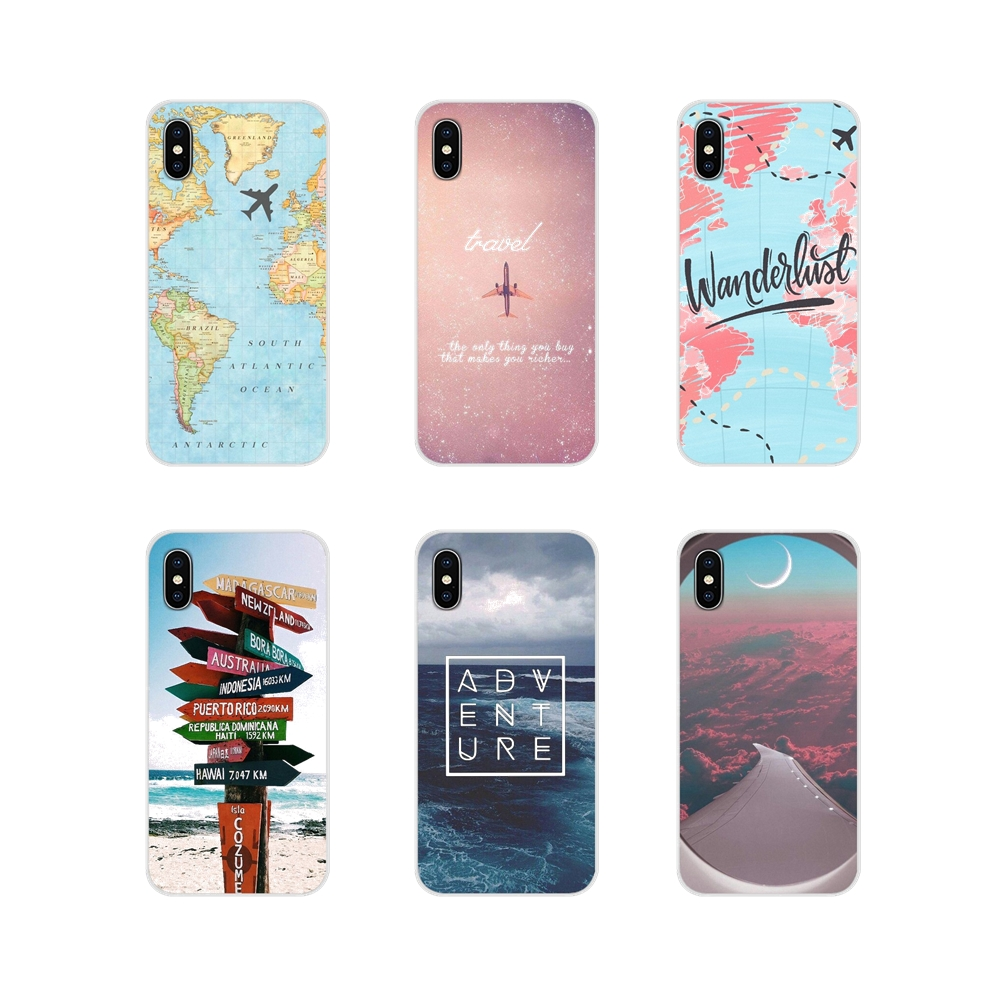 Viaggio Fa il Cuore di Viaggio Aereo Worldmap Per Apple iPhone X XR XS 11Pro MAX 4S 5S 5C SE 6S 7 8 Più ipod touch 5 6 Caso