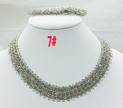 Новая цена-Африка, Нигерия, самый популярный ювелирный набор с кристаллами для невесты - Окраска металла: 7