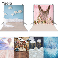Yeele Newborn Baby Birthday Party Ballon Bear Floor Photography Backdrop Photographic Decoration Backgrounds For Photo Studio