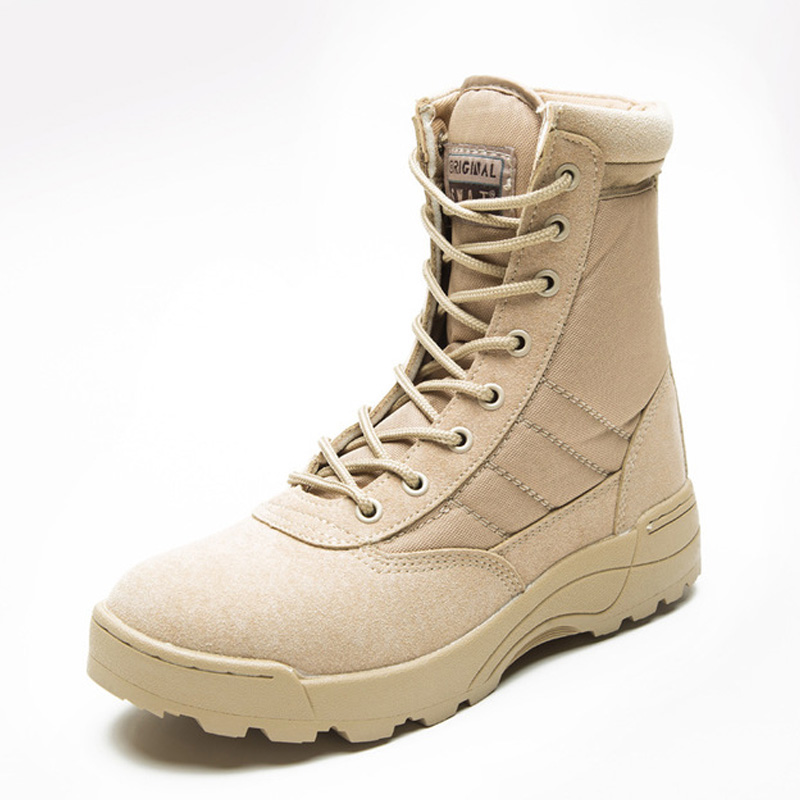 Fashion Men Boots Winter Outdoor Leather Military Boots Breathable Army Combat Boots Plus Size Desert Boots Men Hiking Shoes