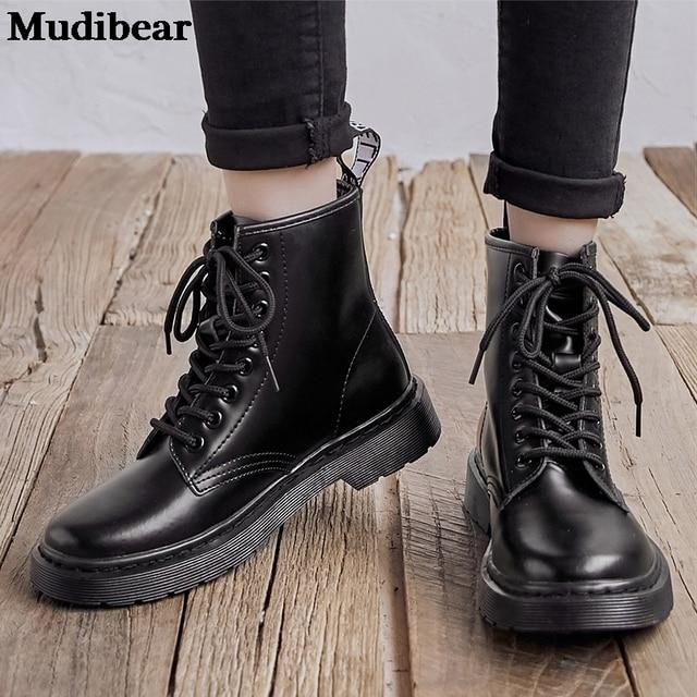 Купить женские ботинки из мягкой кожи mudibear белые мотоциклетные картинки цена