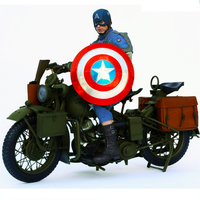 1/6 World War II US Army alloy Motorcycle Model Military metal motorbike motor bicycle toys F 12 Action Figure doll Accessory