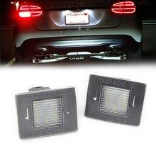 Luces LED blancas para matrícula de coche, lámpara de autobús para mercedes-benz GL GLK ML GLA GLC GLE Class W176 W166 X156 X166 X204 X205 R172