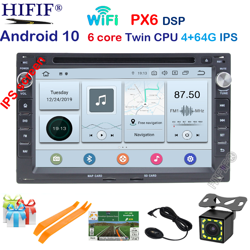 DSP IPS 4G Android 10.0 <font><b>Car</b></font> GPS For VW PASSAT B5 B4 JETTA BORA GOLF 4 SHARAN POLO MK5 MK4 MK3 T5 TRANSPORTER for <font><b>Peugeot</b></font> <font><b>307</b></font> dvd image
