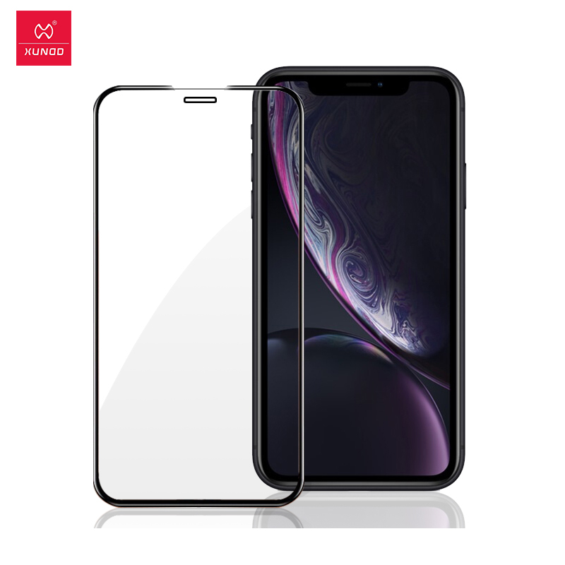 Xundd For IPhone 6 6s Plus 7 7s Plus X XS Max XR Protective Tempered Glass 2.5D 9H Full Phone Screen Protectors Phone Film
