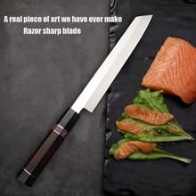 Alta qualidade vg10 cozinha japonesa sushi salmão fatia faca sashimi faca restaurante chef dedicado