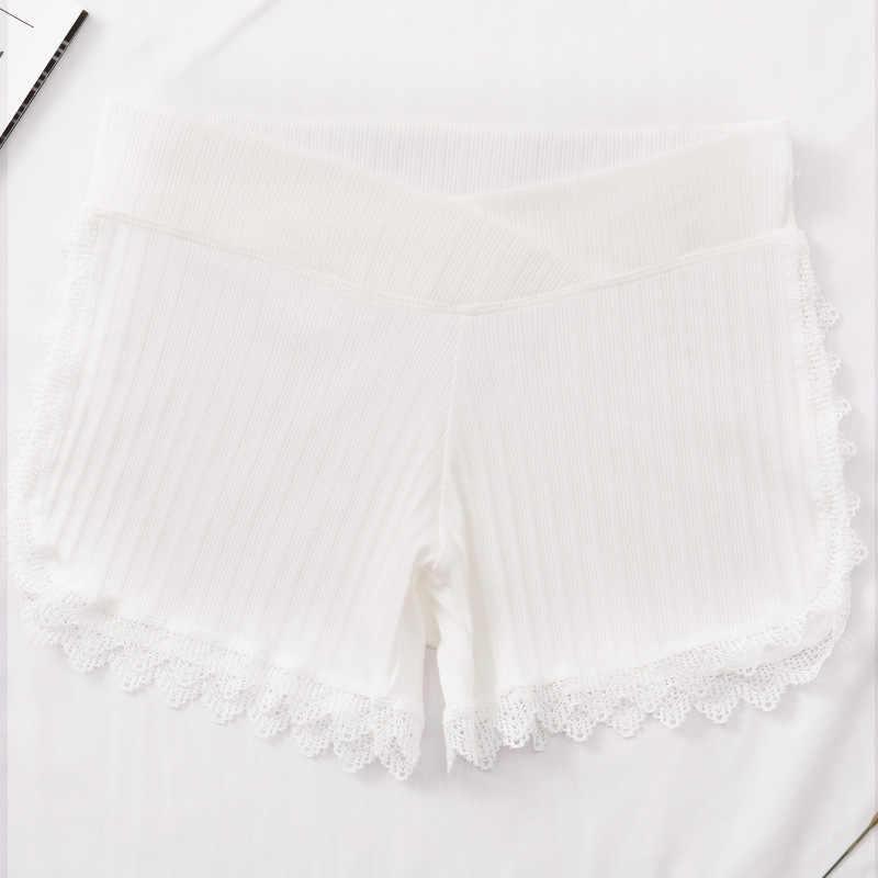 Fdfklak חדש יולדות קצר צפצף חותלות בהריון נשים כותנה רך נמוך מותן בטן תמיכה לנשימה שחור/לבן