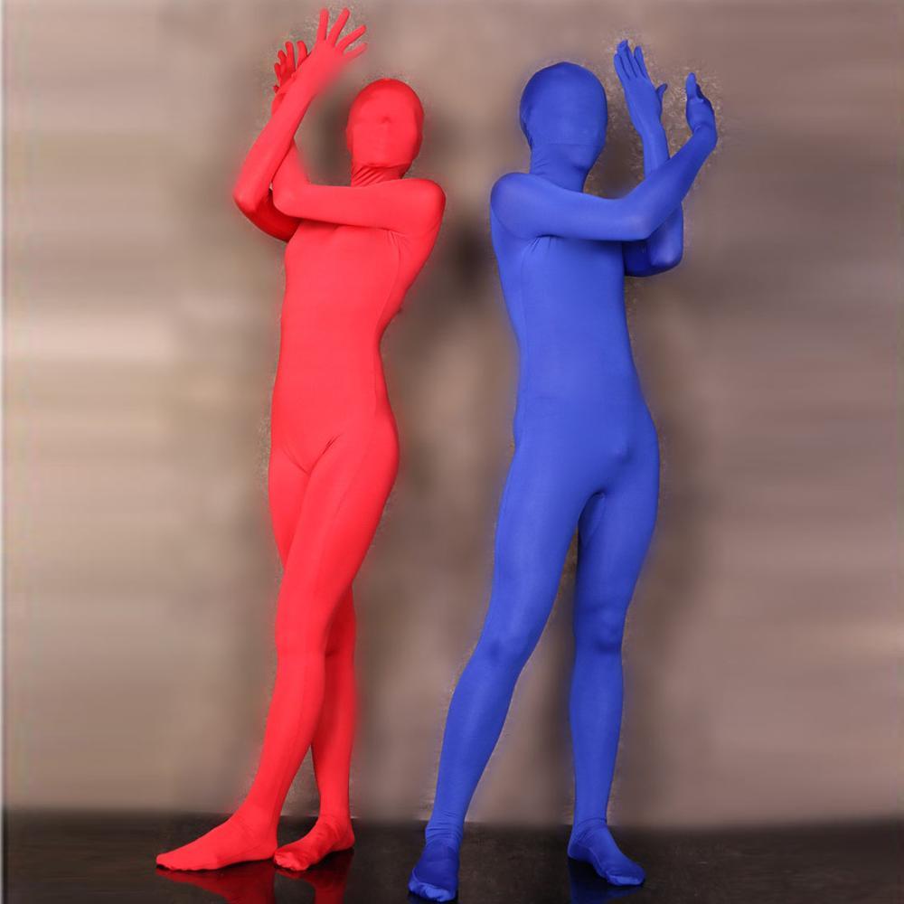 Fünf Finger Hohe Elastische Volle Mantel Zentai Bühne Leistung Kostüm Ein Stück Strumpfhosen Bodystocking Langarm Body Trikot