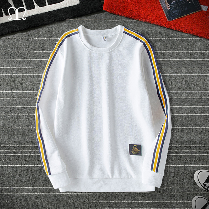 Men Harajuku Sweatshirts Hoodies Striped 2020 Mens Streetwear Hoodie 4XL3XL Brand Male Hip Hop Black White Pullover Yellow Hoody
